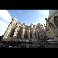 York, Minster (Cathedral Church of St Peter), Nördliche Chorseite von außen