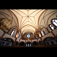 Berlin (Zehlendorf), Pauluskirche (Bach-Orgel), Innenraum mit zwei Orgeln