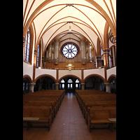 Berlin (Zehlendorf), Pauluskirche (Bach-Orgel), Innenraum in Richtung Hauptorgel