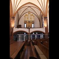 Berlin (Zehlendorf), Pauluskirche (Bach-Orgel), Seitenschiff mit Bach-Orgel