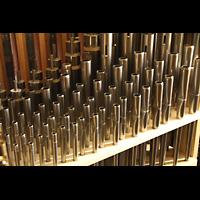 Berlin (Zehlendorf), Pauluskirche (Bach-Orgel), Pfeifen des 5-fachen Kornetts im Hauptwerk