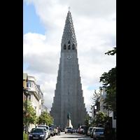 Reykjavík (Reykjavik), Hallgrímskirkja (Chororgel), Turm