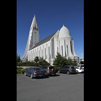 Reykjavík (Reykjavik), Hallgrímskirkja (Chororgel), Ansicht schräg vom Chor aus