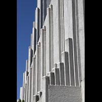 Reykjavík (Reykjavik), Hallgrímskirkja (Chororgel), Architekonische Gestaltung außen