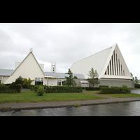 Reykjavík (Reykjavik), Langholtskirkja, Gesamtansicht von außen