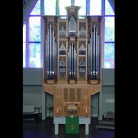 Reykjavík (Reykjavik), Langholtskirkja, Orgel von der gegenüberliegenden Empore aus