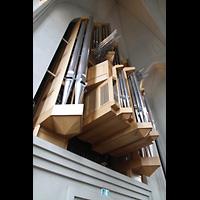 Reykjavík (Reykjavik), Hallgrímskirkja (Chororgel), Große Klais-Orgel von unten