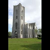 Reykjavík (Reykjavik), Landakotskirkja, Dómkirkja Krists Konungs, Christkönigs-Kathedrale), Außenansicht