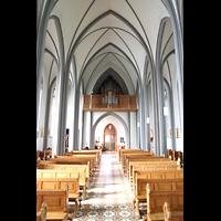Reykjavík (Reykjavik), Landakotskirkja, Dómkirkja Krists Konungs, Christkönigs-Kathedrale), Innenraum mit Orgel