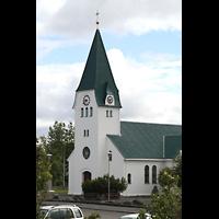 Hafnarfjörður (Hafnafjördur), Kirkja (Romantische Orgel), Kirche Außenansicht