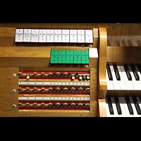 Hafnarfjörður (Hafnafjördur), Kirkja (Romantische Orgel), Linke Registerstaffel