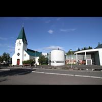 Hafnarfjörður (Hafnafjördur), Kirkja (Romantische Orgel), Gesamtansicht von außen