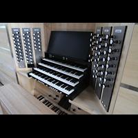 Neubrandenburg, Konzertkirche St. Marien, Mechanischer Spieltisch perspektivisch