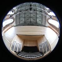 Neubrandenburg, Konzertkirche St. Marien, Spieltisch, Orgelprospekt und gesamter Innenraum