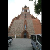Neubrandenburg, Konzertkirche St. Marien, Fassade der Konzertkirche mit Turm