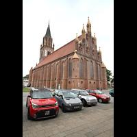 Neubrandenburg, Konzertkirche St. Marien, Konzertkirche - Chor von außen (davor steht innen die Orgel)
