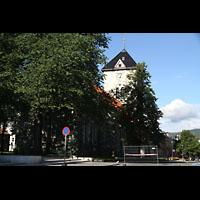 Trondheim, Vår Frue Kirke (Liebfrauenkirche) / Bymision, Außenansicht von der Kongens Gate aus gesehen