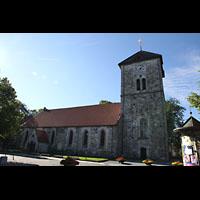 Trondheim, Vår Frue Kirke (Liebfrauenkirche) / Bymision, Seitliche Außenansicht