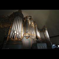 Trondheim, Vår Frue Kirke (Liebfrauenkirche) / Bymision, Orgel mit Spieltisch seitklich