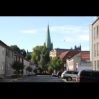 Trondheim, Nidarosdomen (Wagner-Orgel), Ansicht des Doms von der Innenstadt aus