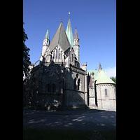 Trondheim, Nidarosdomen (Wagner-Orgel), Außenansicht vom Chor aus