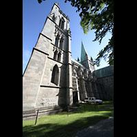 Trondheim, Nidarosdomen (Wagner-Orgel), Seitenansicht mit Türmen