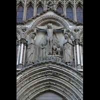 Trondheim, Nidarosdomen (Wagner-Orgel), Erste Christus-Stufe über dem Hauptportal: Die Kreuzigung