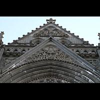 Trondheim, Nidarosdomen (Wagner-Orgel), Zweite und dritte Christus-Stufe: Das jüngste Gericht und der siegreiche Christus