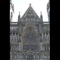 Trondheim, Nidarosdomen (Wagner-Orgel), Alle drei Christus-Stufen mit Fensterrosette in der Mitte