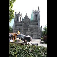 Trondheim, Nidarosdomen (Wagner-Orgel), Dom und Domplatz