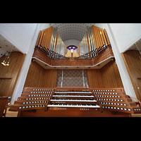 Bodø (Bodo), Domkirke, Orgel mit Spieltisch