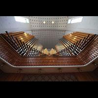 Bodø (Bodo), Domkirke, Orgelprospekt vom Spieltisch aus gesehen