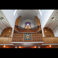 Bodø (Bodo), Domkirke, Orgelempore perspektivisch