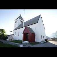 Svolvær (Svolvaer), Kirke, Außenansicht von der Seite