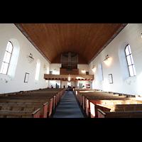 Svolvær (Svolvaer), Kirke, Innenraum in Richtung Orgel
