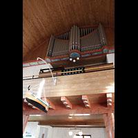 Svolvær (Svolvaer), Kirke, Orgelempore seitlich