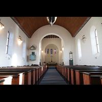 Svolvær (Svolvaer), Kirke, Innenraum in Richtung Chor