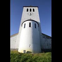 Svolvær (Svolvaer), Kirke, Chor und Turm von außen