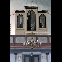 Brønnøysund (Brönnöysund), Kirke (Kleine Orgel), Kleine orgel auf der linken Seitenempore