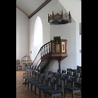 Brønnøysund (Brönnöysund), Kirke (Kleine Orgel), Kanzel