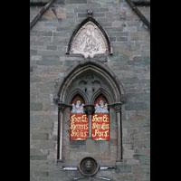 Trondheim, Nidarosdomen (Wagner-Orgel), Ornamente über dem Seitenportal