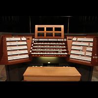 Trondheim, Nidarosdomen (Wagner-Orgel), Zentralspieltisch der Hauptorgelanlage