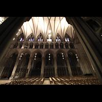 Trondheim, Nidarosdomen (Wagner-Orgel), Chororgel im Laufgang der Triforiums-Zone