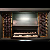 Trondheim, Nidarosdomen (Wagner-Orgel), Spieltisch der Wagner-Orgel