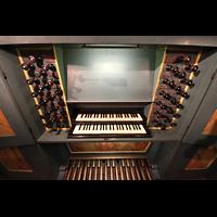 Trondheim, Nidarosdomen (Wagner-Orgel), Spieltisch der Wagner-Orgel perspektivisch