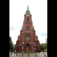 Bergen, Johanneskirke, Fassade mit Turm