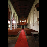 Bergen, Domkirke, Innenraum in Richtung Orgel