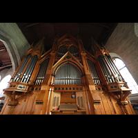 Bergen, Domkirke, Spieltisch und Orgel