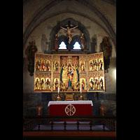 Bergen, Mariakirke, Spätmittelalterlicher Altar aus Lübecker Werkstatt