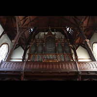 Bergen, Johanneskirke, Orgelempore perspektivisch